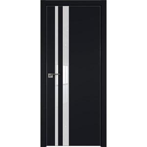 Дверь профиль дорс 16Е Черный матовый - со стеклом