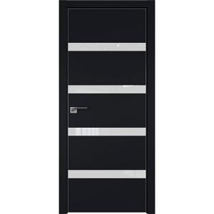 Дверь профиль дорс 26Е Черный матовый - со стеклом