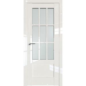 Дверь Профиль дорс 104L Магнолия люкс - со стеклом