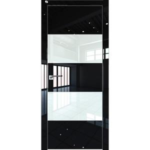 Дверь Профиль дорс 10LK Черный люкс - со стеклом