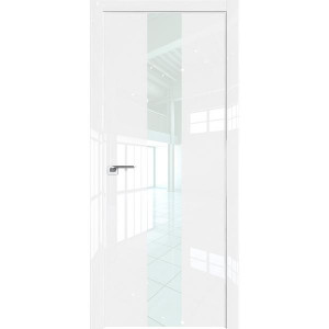 Дверь Профиль дорс 25LK Белый люкс - со стеклом