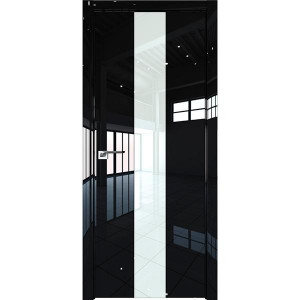 Дверь Профиль дорс 25LK Черный люкс - со стеклом