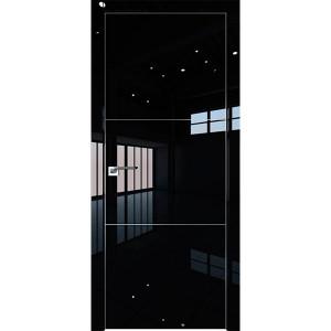 Дверь Профиль дорс 2LK Черный люкс - глухая