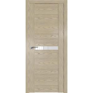 Дверь Профиль дорс 2.01N Дуб скай крем - со стеклом