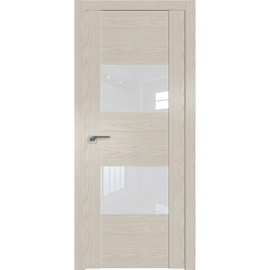 Дверь Профиль дорс 21N Дуб скай белёный - со стеклом