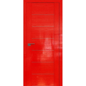 Дверь Профиль дорс 2.07STP Pine Red glossy - глухая алюминиевый молдинг