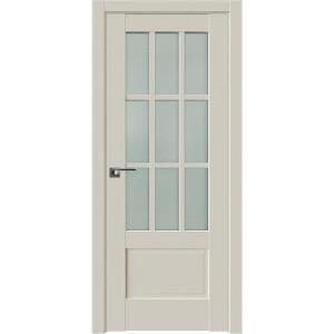 Дверь Профиль дорс 104U Магнолия сатинат - со стеклом