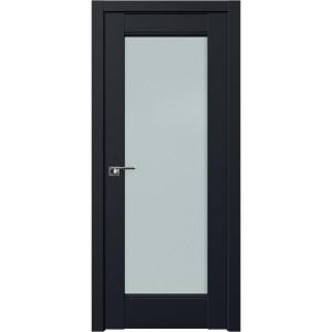 Дверь Профиль дорс 107U Черный матовый - со стеклом