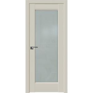Дверь Профиль дорс 107U Магнолия сатинат - со стеклом