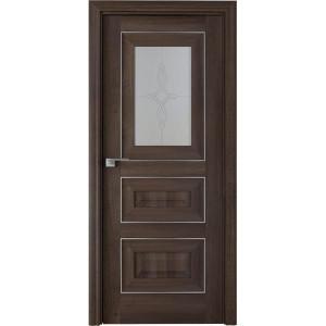 Дверь Профиль дорс 26Х Орех сиена - со стеклом