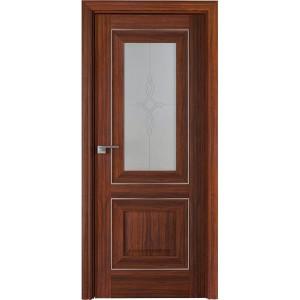 Дверь Профиль дорс 28Х Орех амари - со стеклом