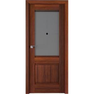 Дверь Профиль дорс 2Х Орех амари - со стеклом