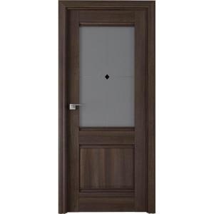 Дверь Профиль дорс 2Х Орех сиена - со стеклом