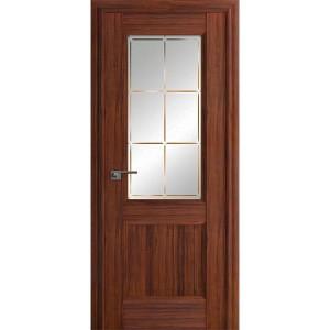 Дверь Профиль дорс 90Х Орех амари - со стеклом