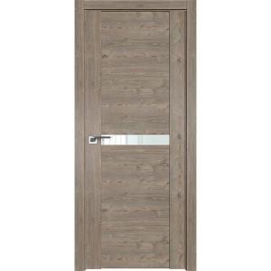 Дверь Профиль дорс 2.01XN Каштан темный - со стеклом