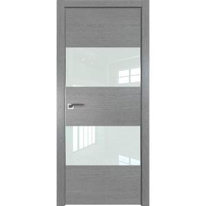 Дверь Профиль дорс 10ZN Грувд серый - со стеклом