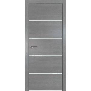 Дверь Профиль дорс 20ZN Грувд серый - со стеклом