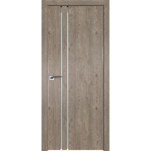 Дверь Профиль дорс 35ZN Каштан темный - со стеклом