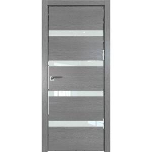 Дверь Профиль дорс 26ZN Грувд серый - со стеклом