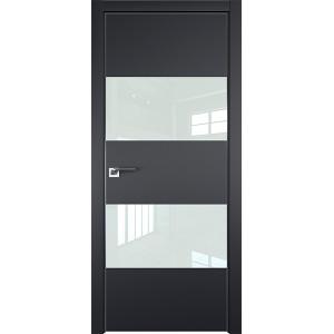 Дверь профиль дорс 10Е Черный матовый - со стеклом