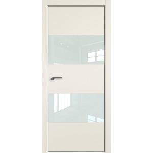 Дверь профиль дорс 10Е Магнолия сатинат - со стеклом