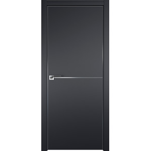 Дверь профиль дорс 12Е Черный матовый - глухая