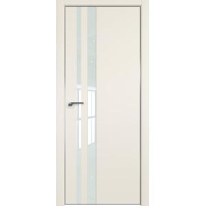 Дверь профиль дорс 16Е Магнолия сатинат - со стеклом