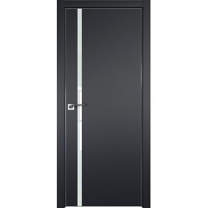 Дверь профиль дорс 22Е Черный матовый - со стеклом