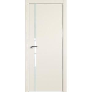Дверь профиль дорс 22Е Магнолия сатинат - со стеклом