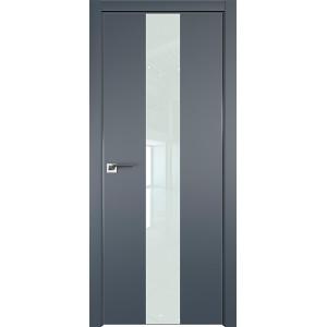 Дверь профиль дорс 25Е Антрацит - со стеклом