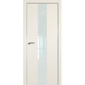 Дверь профиль дорс 25Е Магнолия сатинат - со стеклом