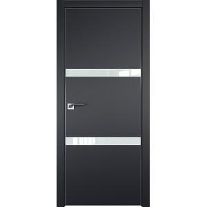 Дверь Профиль дорс 30Е Черный матовый - со стеклом