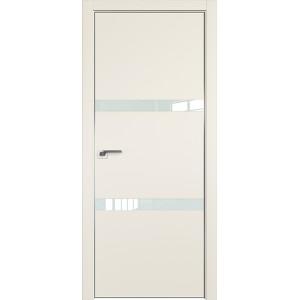 Дверь Профиль дорс 30Е Магнолия сатинат - со стеклом