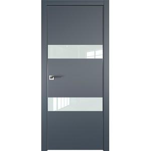 Дверь Профиль дорс 34Е Антрацит - со стеклом