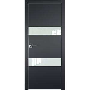 Дверь Профиль дорс 34Е Черный матовый - со стеклом