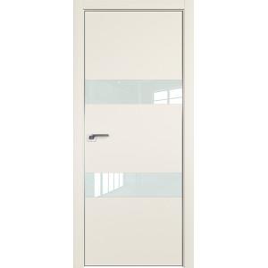 Дверь Профиль дорс 34Е Магнолия сатинат - со стеклом