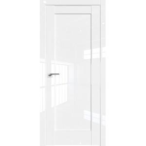 Дверь Профиль дорс 100L Белый люкс - глухая