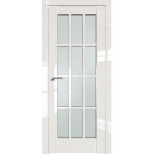 Дверь Профиль дорс 102L Магнолия люкс - со стеклом