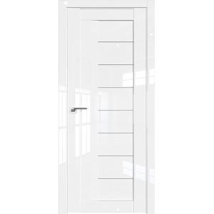 Дверь Профиль дорс 17L Белый люкс - со стеклом