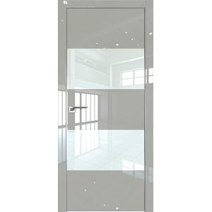 Дверь Профиль дорс 10LK Галька люкс - со стеклом