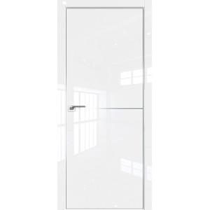 Дверь Профиль дорс 12LK Белый люкс - глухая