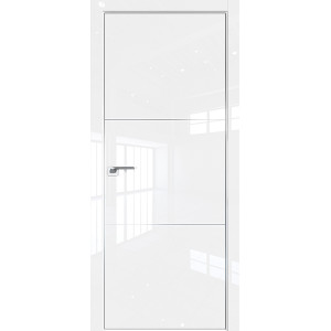 Дверь Профиль дорс 2LK Белый люкс - глухая