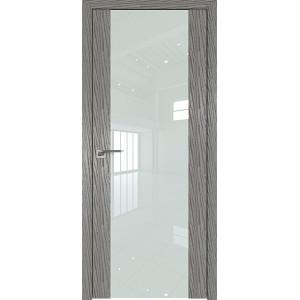 Дверь Профиль дорс 110N Дуб скай деним - со стеклом