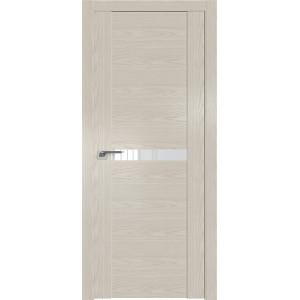 Дверь Профиль дорс 2.01N Дуб скай белёный - со стеклом