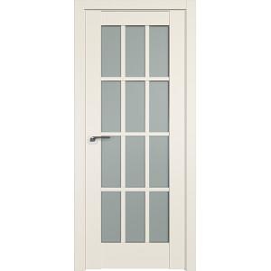 Дверь Профиль дорс 102U Магнолия сатинат - со стеклом