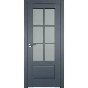 Дверь Профиль дорс 103U Антрацит - со стеклом