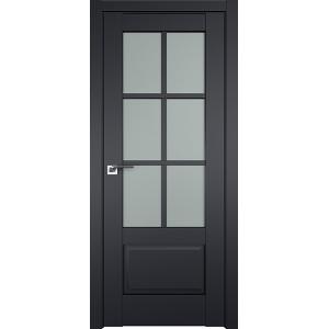 Дверь Профиль дорс 103U Черный матовый - со стеклом