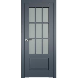 Дверь Профиль дорс 104U Антрацит - со стеклом