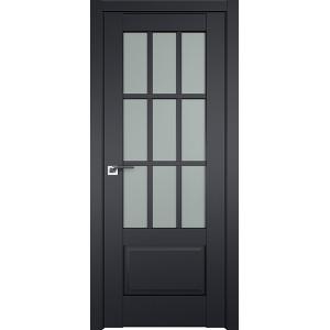 Дверь Профиль дорс 104U Черный матовый - со стеклом