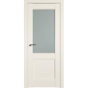 Дверь Профиль дорс 109U Магнолия сатинат - со стеклом